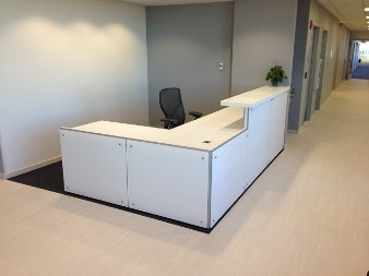 custom laminate reception desk